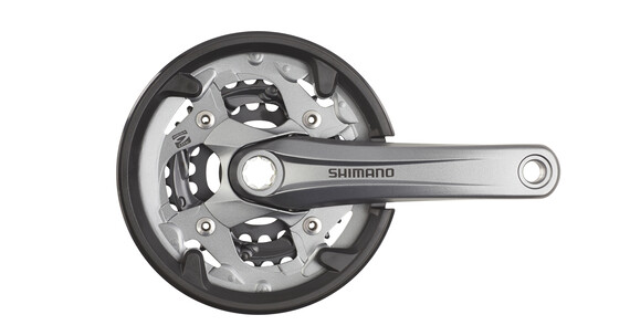 Shimano Alivio FC-M4000 Zwengel 40/30/22, 9-speed chain guard ring grijs